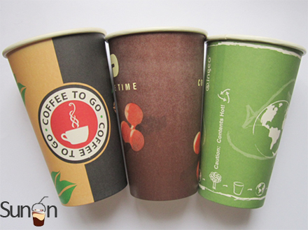 16oz disposable paper cups