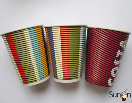 12 oz Corrugated paper cups