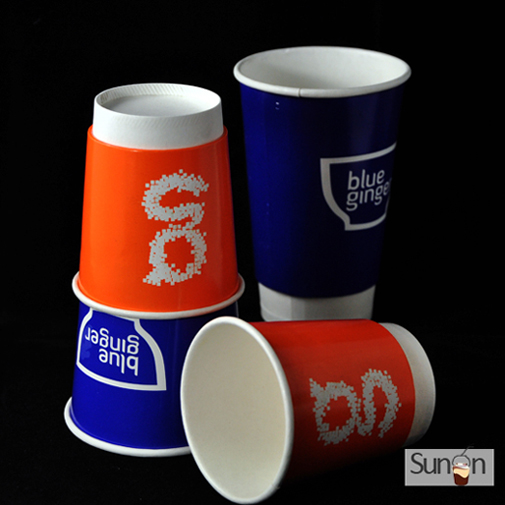 12 oz double walled paper cups