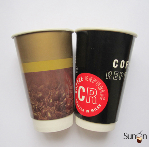 16 oz double walled paper cups